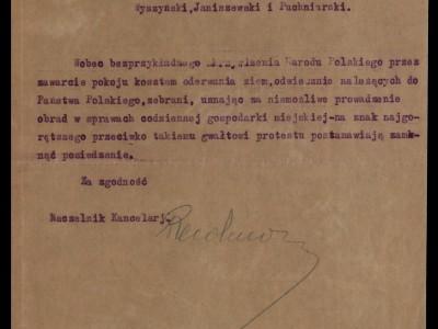 Strajk patriotyczny lubelskiego Magistratu