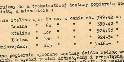 Feliks Dzierżyński w rozmiarze XL